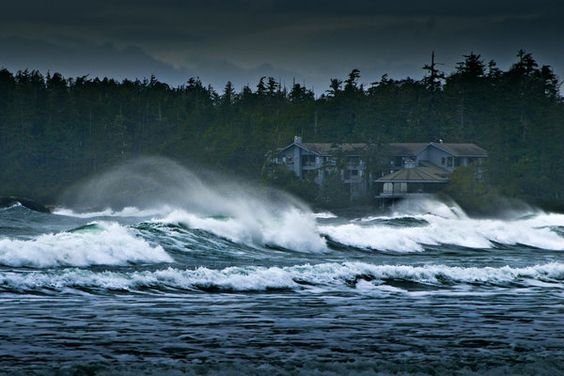 The Wickaninnish Inn during harsh storm, 2011. Credit Sander Jain: Where Storms Are Welcome…