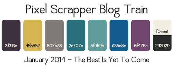 PS January 2014 Blog Train Palette by Pixel Scrapper, via Flickr