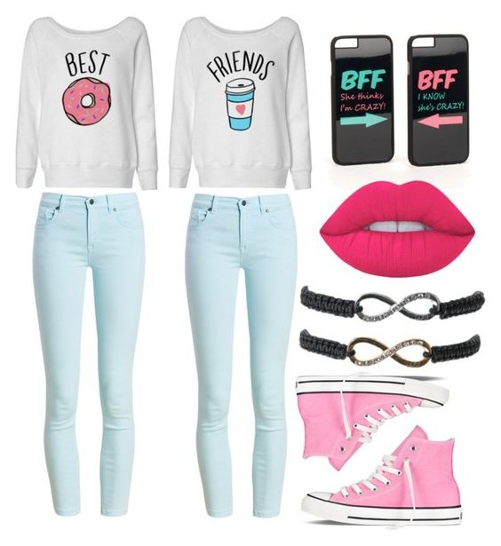 """Bff"" by sabichoux1427 ❤ liked on Polyvore featuring JFR, Barbour, Converse and Lime Crime"
