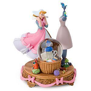Disney Cinderella's pink dress snowglobe