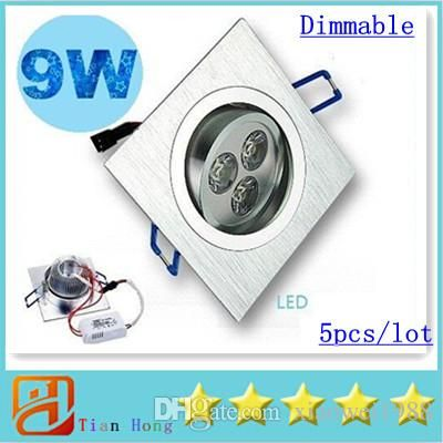 High quality led downlight, xiaowei1988 provides downlight led and down light of different shapes and colors, buy the  Ceiling Light Square Led Downlight 9W 3X3W 720 Lumens Led Ceiling Light Recessed Downlights Dimmable Warm/Natural/Cool White AC 110-240V 5x you love here and decorate your house!