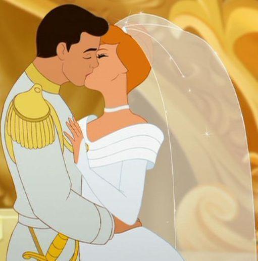 Kiss  Disney Couples Cinderella and Prince Charming