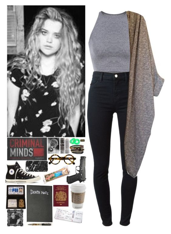 """""""Criminal Minds OC: Dr. Nicole MacGregor"""" by mermer1324 ❤ liked on Polyvore featuring moda, KAOS, Korres, NAKAMOL, Converse, Hervé Léger, J Brand, American Apparel, country y OC"""