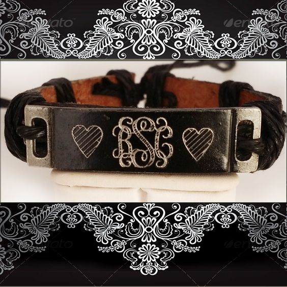 Personalized Name Leather Bracelet,Personalized Monogrammed Bracelet,Name Personalized Leather Bracelet,Monogrammed Bracelet by newyorkcustomermake on Etsy