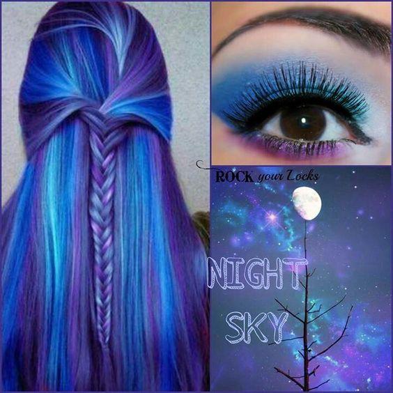 Night sky makeup