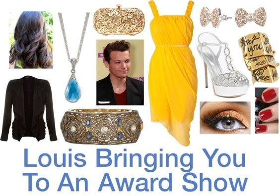 """""""Louis Bringing You To An Award Show"""" by dedicatedfor1d ❤ liked on Polyvore"""