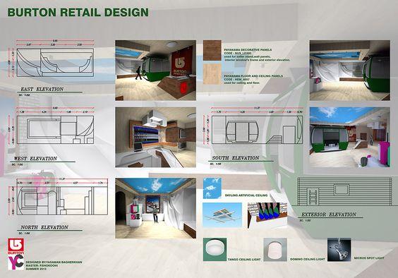 Interior Architecture Design 2, Retail design , BURTON.