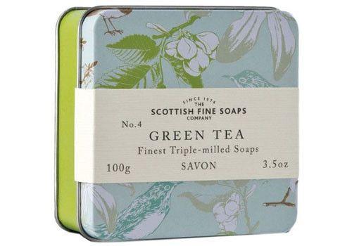 Scottish Fine Soaps Company Green Tea Soap in a Tin