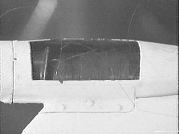 Ruhrstahl X-4 Air-to-Air missile A wingtip bobbin is exposed, revealing the wire spool