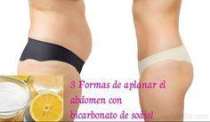 Aplana el abdomen con bicarbonato de sodio