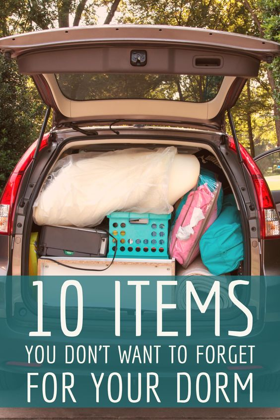 While I am sure there are lots of items college students forget, these are just a few that are often overlooked in the big move to college.