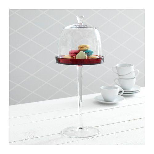 AKTAD Alzata con coperchio IKEA Grazie alla sua altezza è ideale non solo per servire i formaggi o i dolci, ma anche come centrotavola.