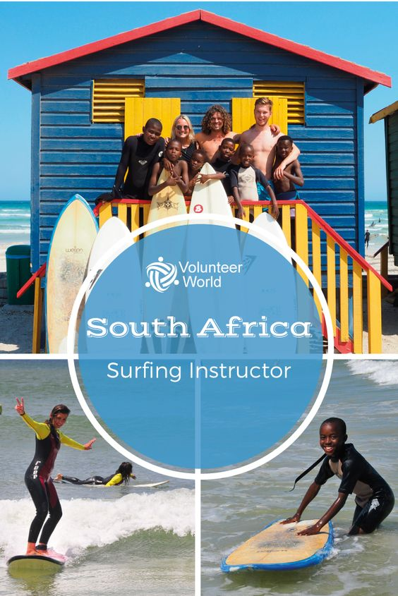 Use the chance to help children creating a brighter future by teaching them how to surf at Muizenberg one of Cape Towns most beautiful beaches!