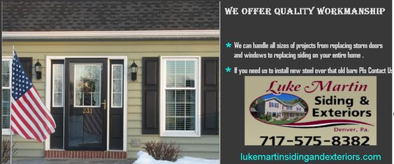 The company at Luke Martin Siding & Exteriors has been specializing in siding in Lancaster PA and the surrounding areas for many years. Finding a contractor that you can rely on can be a task sometimes, but the professionals at Luke Martin Siding & Exteriors strive for excellence.
