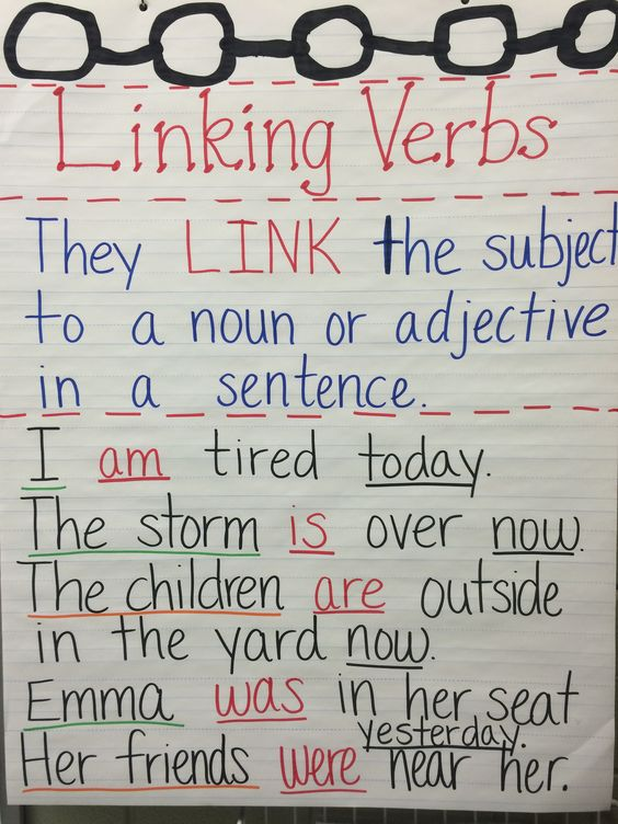 Action and linking verbs quiz 5th grade