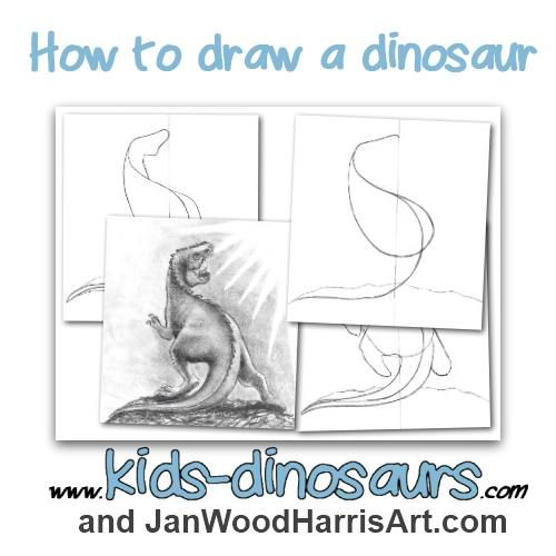 How To Draw Draw And Dinosaurs On Pinterest