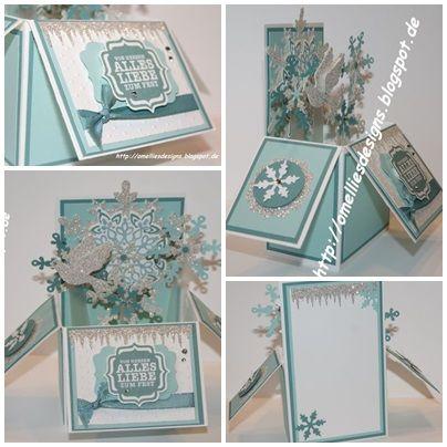 Stampin UP , Card in a Box , Christmas , x-mas , Snowflake