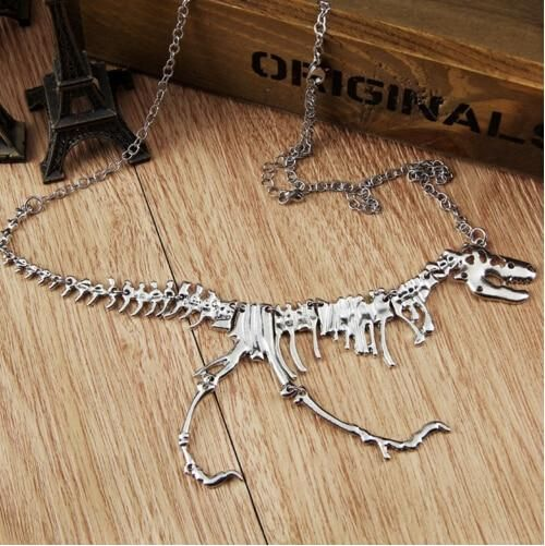 Dinosaur Skeleton Necklace Skull Pendant Necklace Dinosaur Pendant Skeleton Necklace