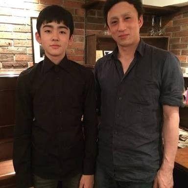 親子ツーショットの八代目市川染五郎のかっこいい画像