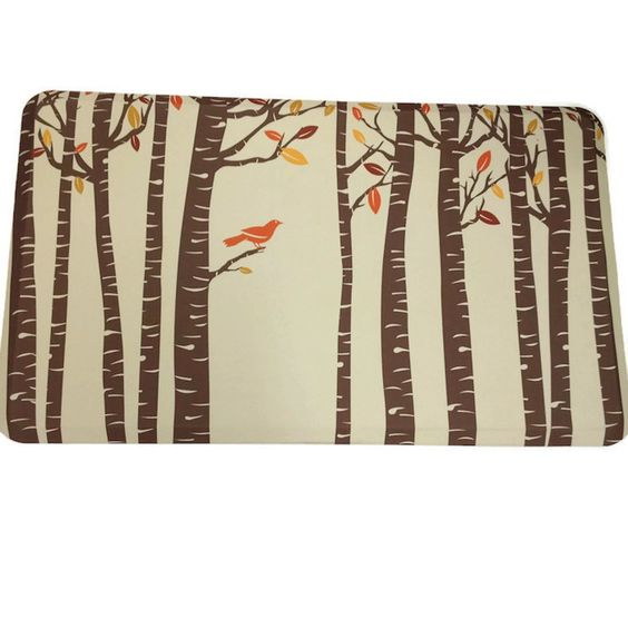 "Healthier Choice 18"" x 30"" Memory Foam Mat - Autumn Bird Perch - Mirranme"
