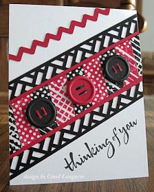 Red, White, and Black with Washi
