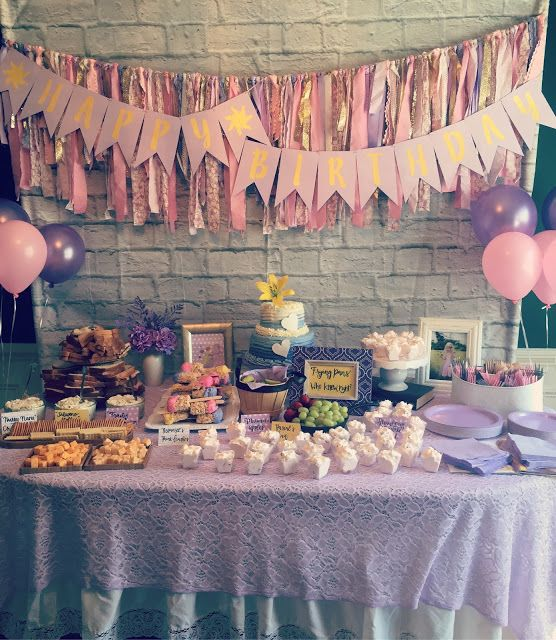 Rapunzel Kids Birthday Party Decoration Ideas Food And