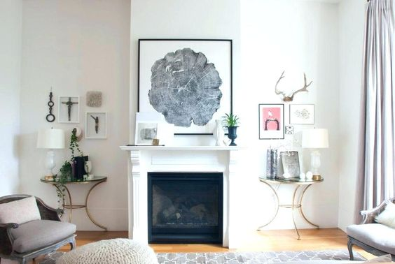 Trendy Transitional Fireplace