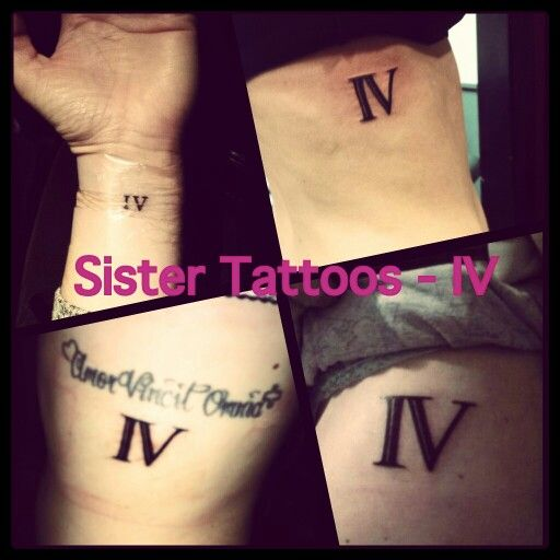 Gallery For &gt Roman Numeral 3 Tattoo Sisters