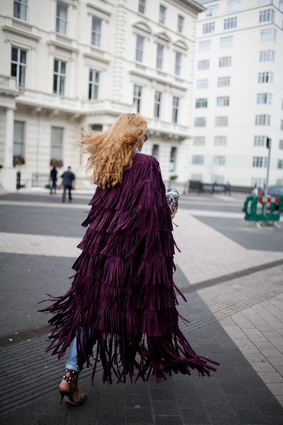 Fringe in motion at #LFW [Photo: Kuba Dabrowski]: