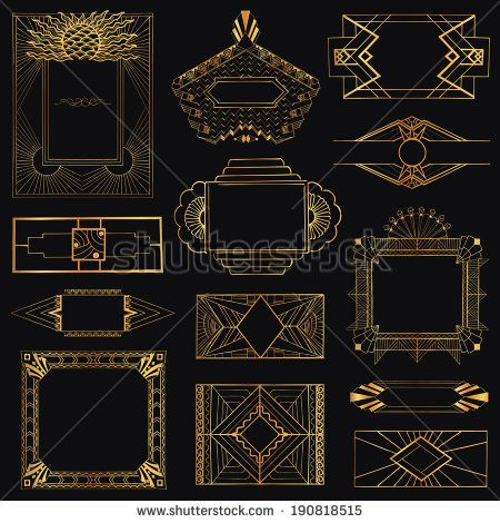 Art Deco Graphic Design Elements Google Search