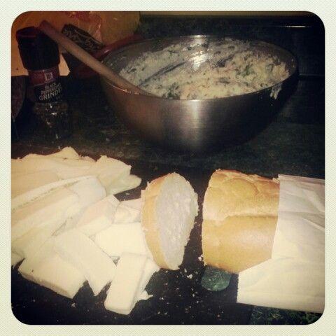 Makings of lasanga