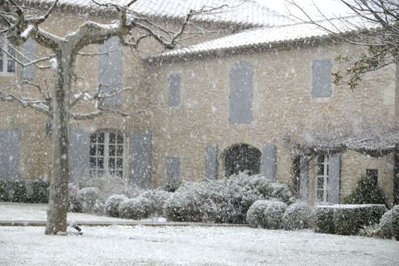 Vicki Archer's French home dusted in snow