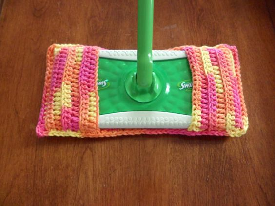 Eco Friendly Cotton Swiffer Cover by handknitted4you on Etsy, $3.50