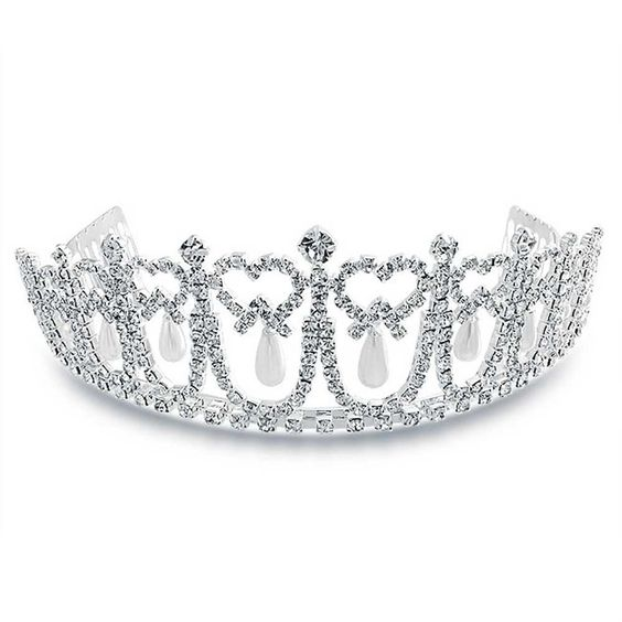 Checkout Pearl Princess Tiara at BlingJewelry.com