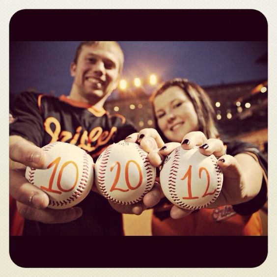 Engagement photo! This needs to happen.  Baseball loveeee<3