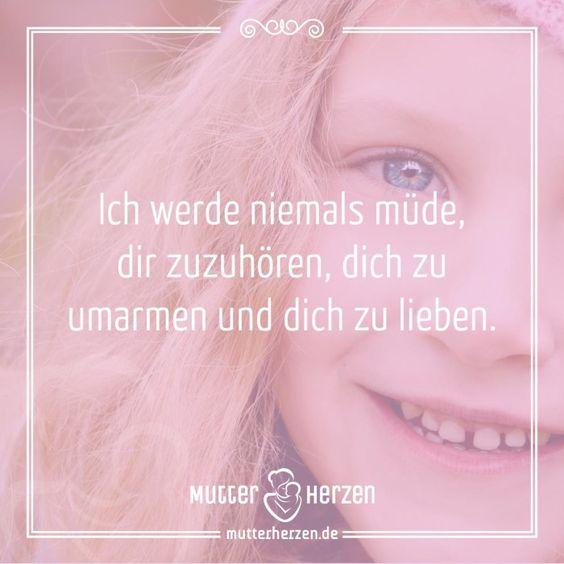 Eine Liebe ohne Ende  Mehr schöne Sprüche auf: www.mutterherzen.de  #zuhören #umarmen #lieben #umarmung #liebe #aufmerksamkeit #zuneigung #kinder #kind #mutter