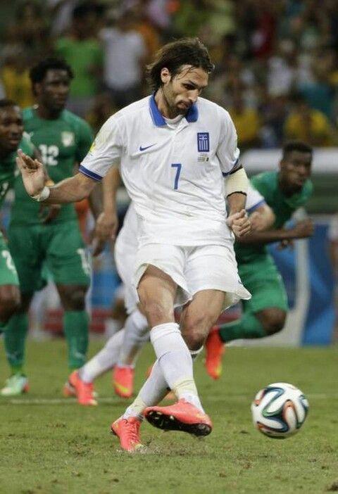 Samaras presente en el mundial de Brasil 2014.