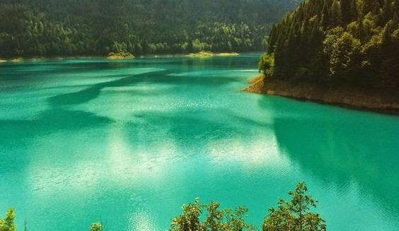 :Lake Sauris, Friuli, Italy.