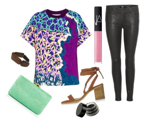 """""""16"""" by helonany on Polyvore featuring mode, Peter Pilotto, 7 For All Mankind, Topshop, Kayu, Chanel et NARS Cosmetics"""