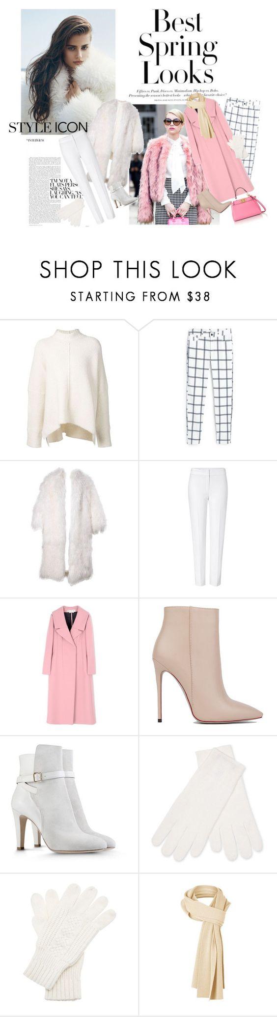 """Spring look"" by fashionxfab ❤ liked on Polyvore featuring H&M, URBAN ZEN, MANGO, ESCADA, Marni, Akira Black Label, Alberta Ferretti, White + Warren, White House Black Market and Fendi"