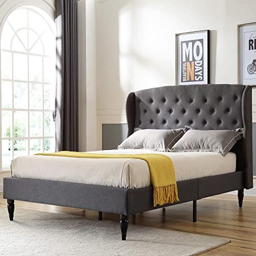 New Classic Brands Coventry Upholstered Platform Bed Headboard