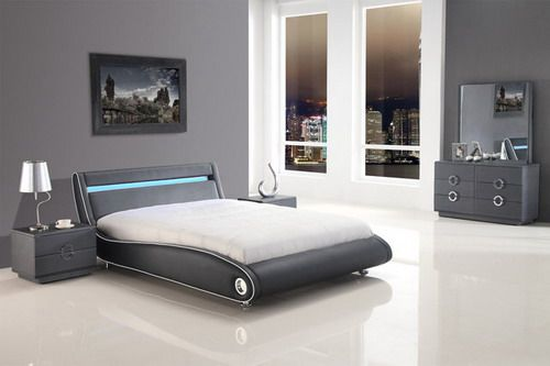 Exclusive Leather Platform Bedroom Sets feat Light Contemporary ...