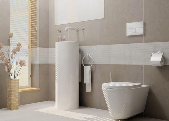 Badezimmer Fliesen Grau Badezimmer Modern Beige Grau ihausdekor ...
