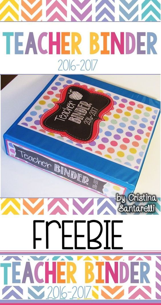 This 2016-2017 teacher binder FREEBIE set includes three pre-made teacher binder covers with three binder spines. The teacher binder also comes in an editable version.
