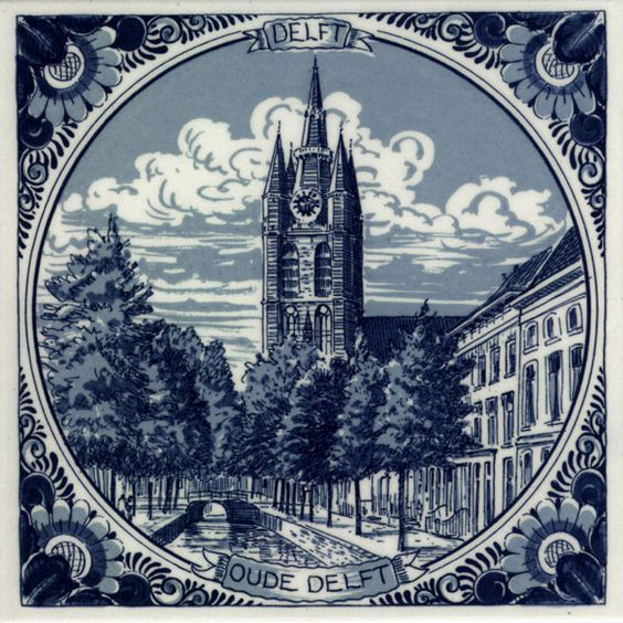 Delfts blauw oude delft tegel nederland pays bas the netherlands delfts blauw bleu de - Lino imitatie oude tegel ...