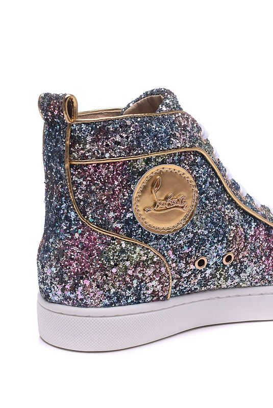 timeless design b041f d4b84 Christian Louboutin Rantus Flat Glitter High Top Sneakers ...