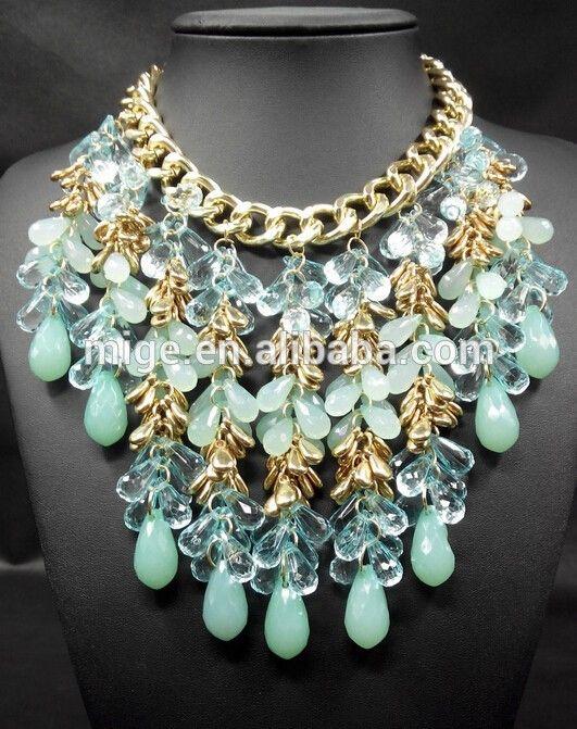 2015 primavera verano moda mujeres declaración nuevo collar collar de alta joyería de N2939,Collares