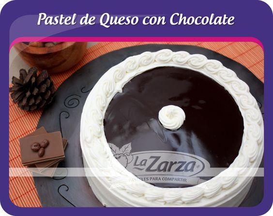 Pastel de Queso con Chocolate #Pastelerías #LaZarza #Puebla #DF #Veracruz #Tlaxcala #Morelos