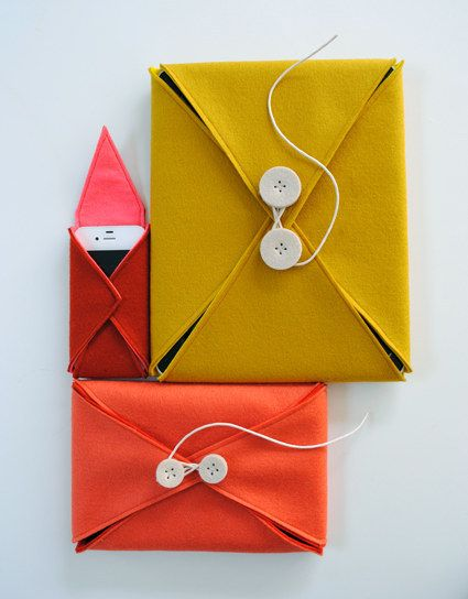 Smartphone und Tablet-Hüllen aus Filz | 41 selbstgebastelte Geschenke, die Du am Liebsten behalten willst