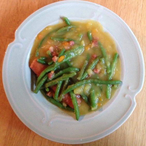 Rezept Grüner Bohneneintopf von smartytier - Rezept der Kategorie Hauptgerichte mit Fleisch